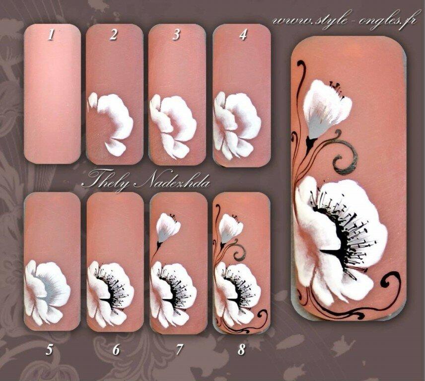 Дизайн ногтей этапы в картинках