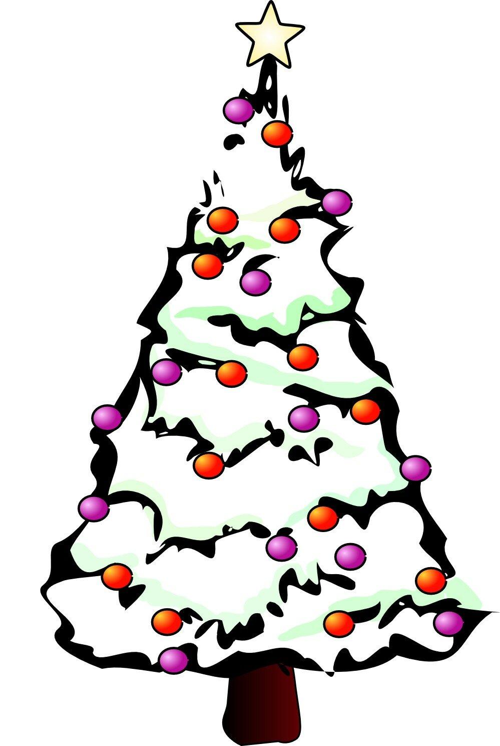 Открытки новым, рисунок новогоднюю елку