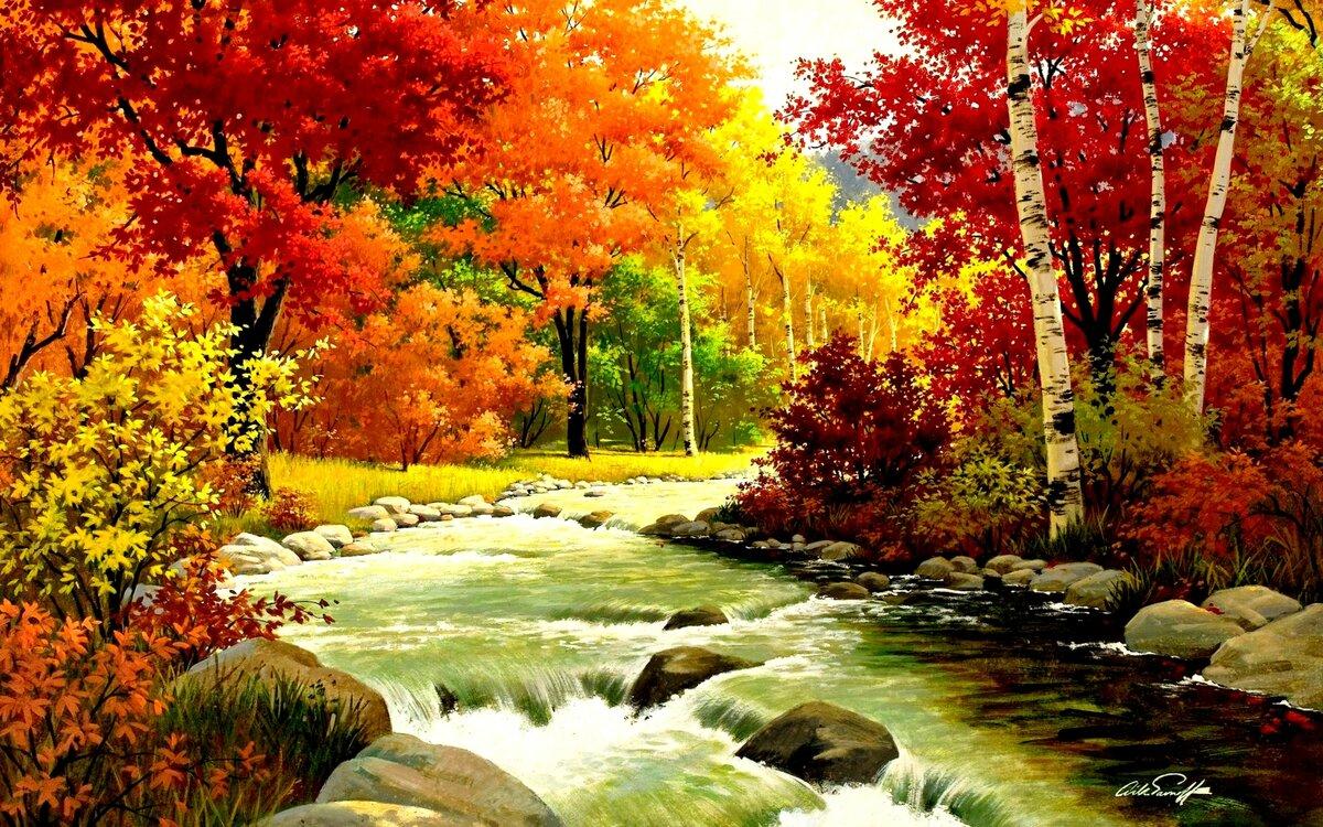 Картинки природы осенью для детей, днем