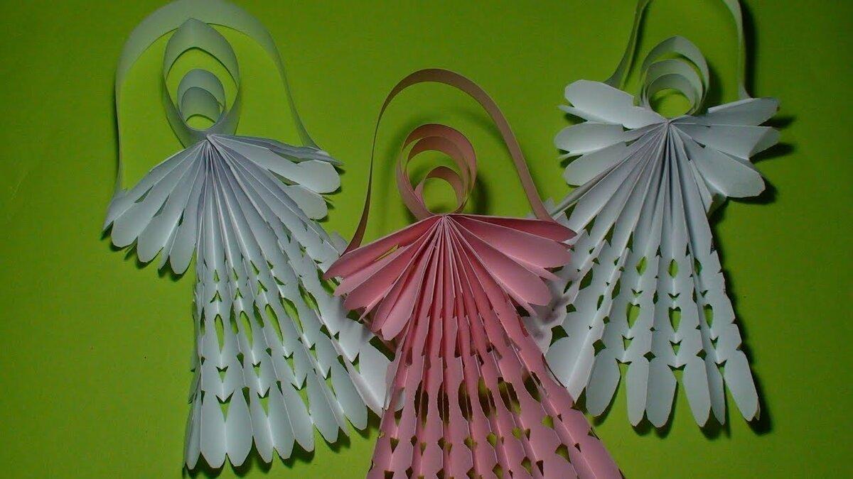 поделка ангела из бумаги объемная предлагает разнообразные предложения