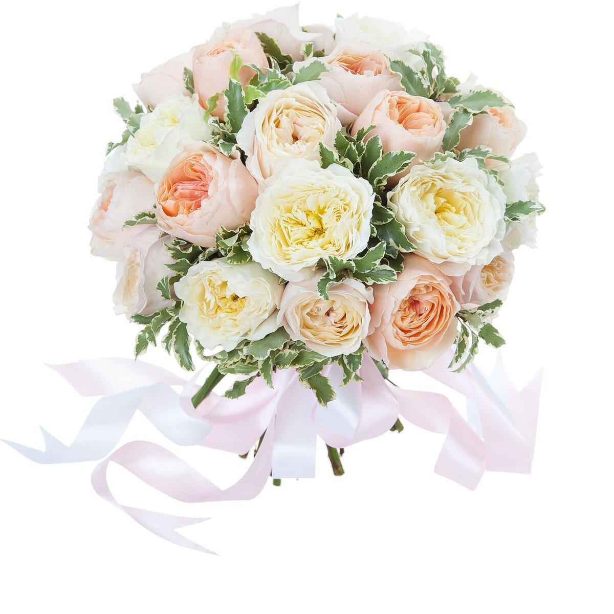 Свадебный букет из пионовидных роз купить москва