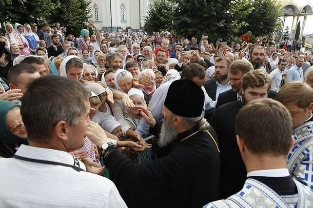 Митрополит Онуфрий в Почаевской лавре, 5 августа 2018 г.