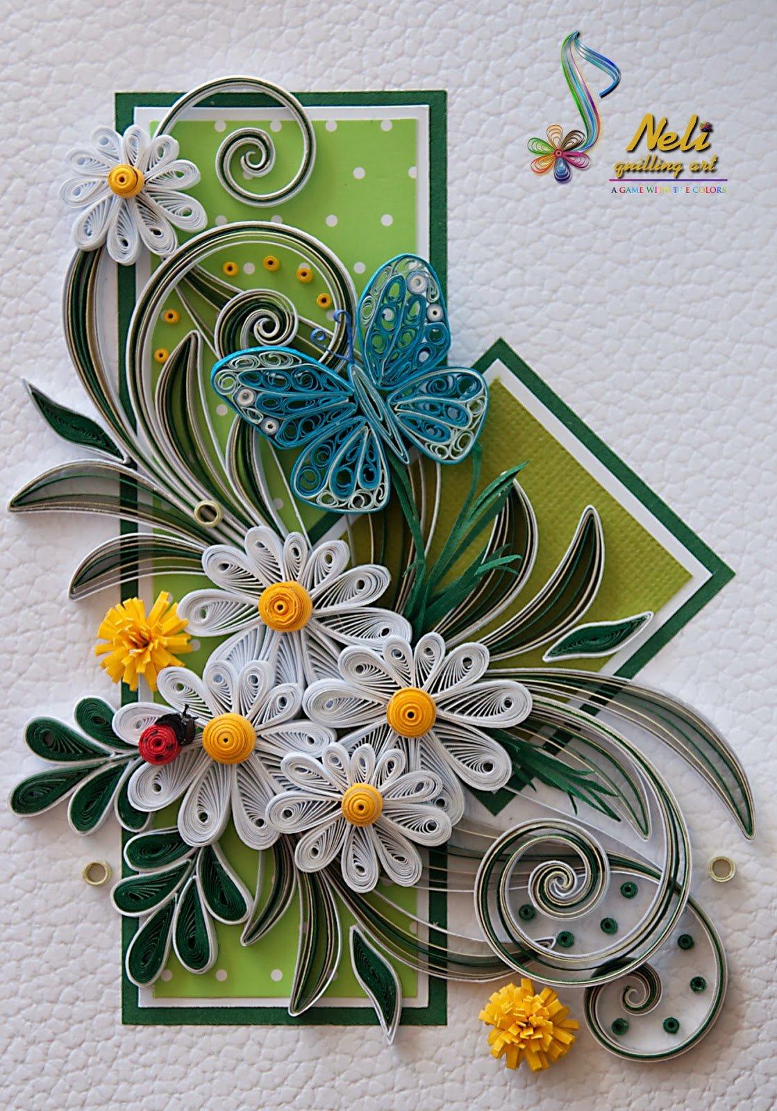 Прикол, открытки из квиллинга со схемами