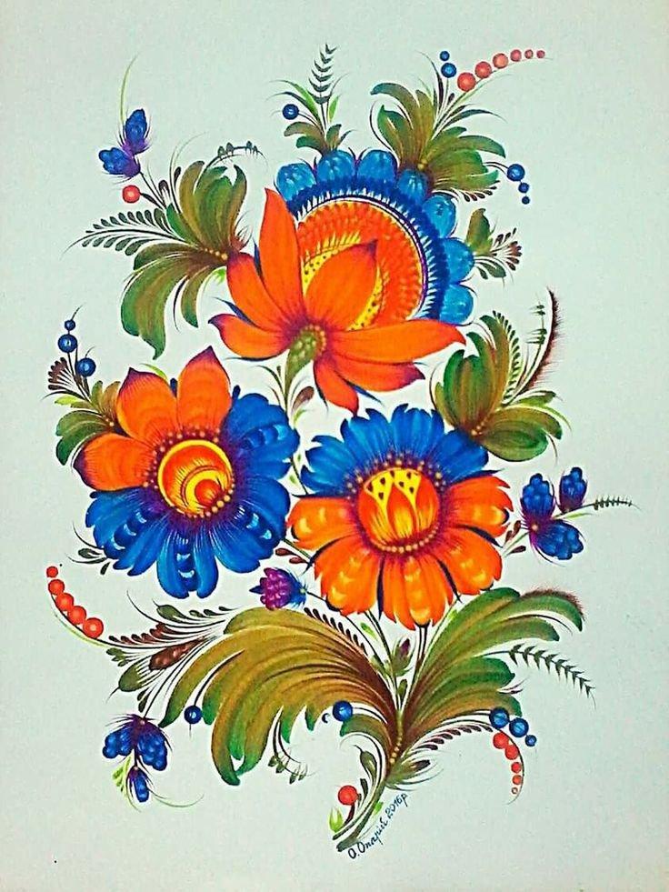 Петриковская роспись картинки цветы, для