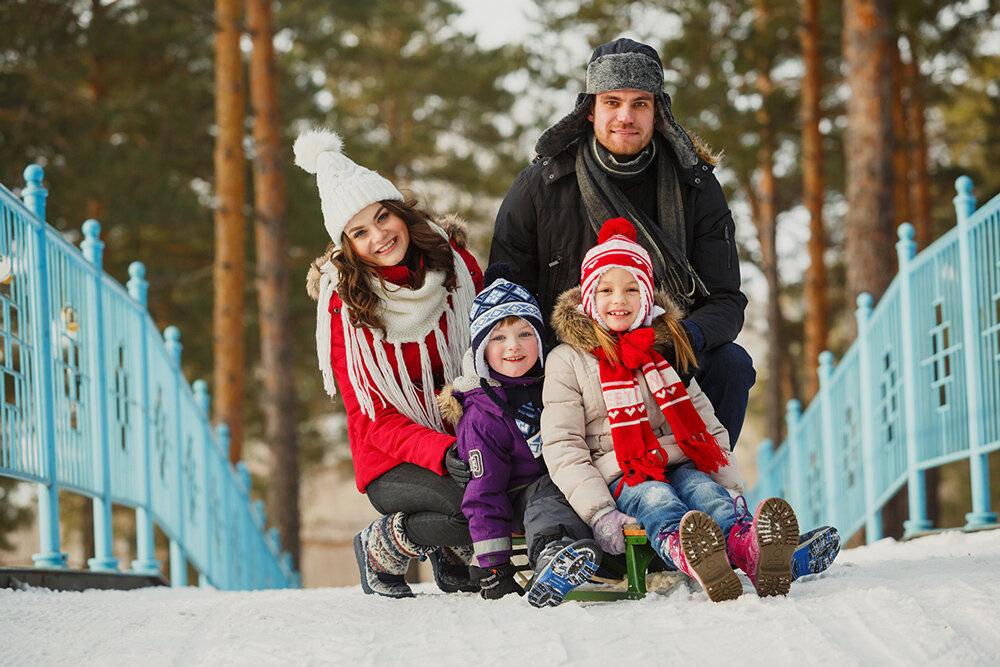 Прогулки с ребенком зимой картинки