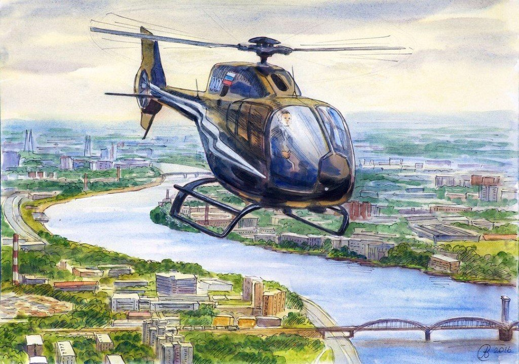 Картинки нарисованные вертолеты