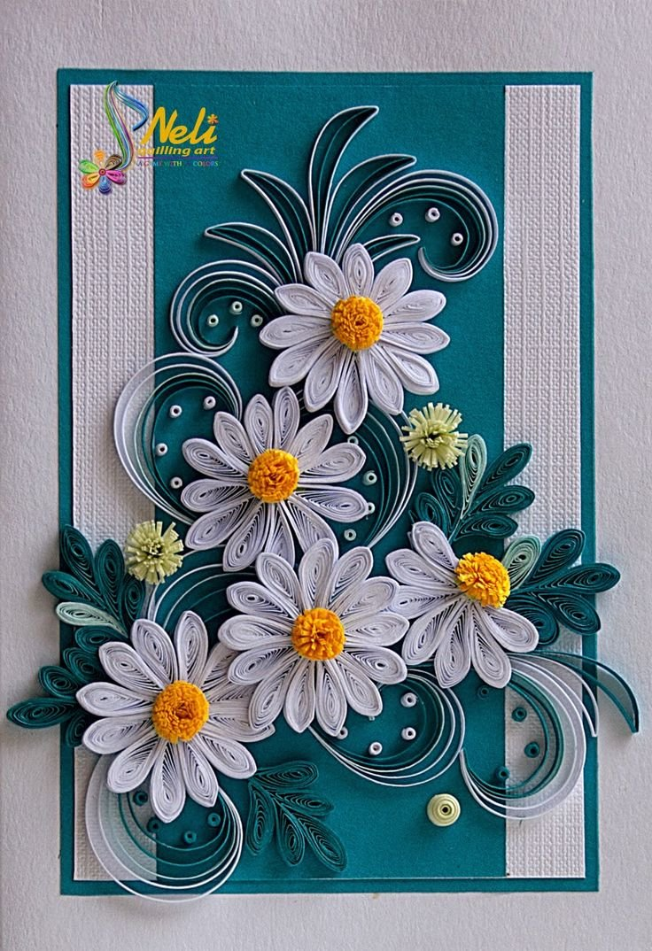 Открытки из квиллинга цветы, день историка открытки