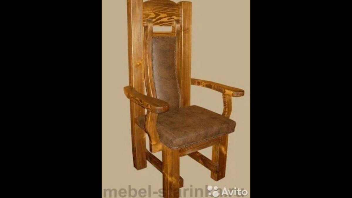 Деревянный трон своими руками фото