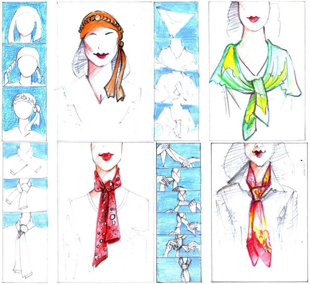картинки как завязать шарфик предложения
