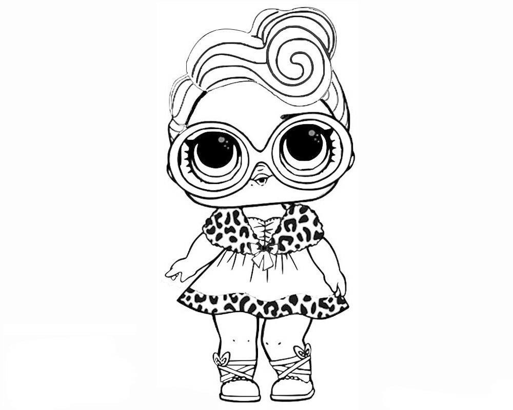 Кукла лол раскраска распечатать черно белая шаблоны для самоделия, коллеге женщине летием