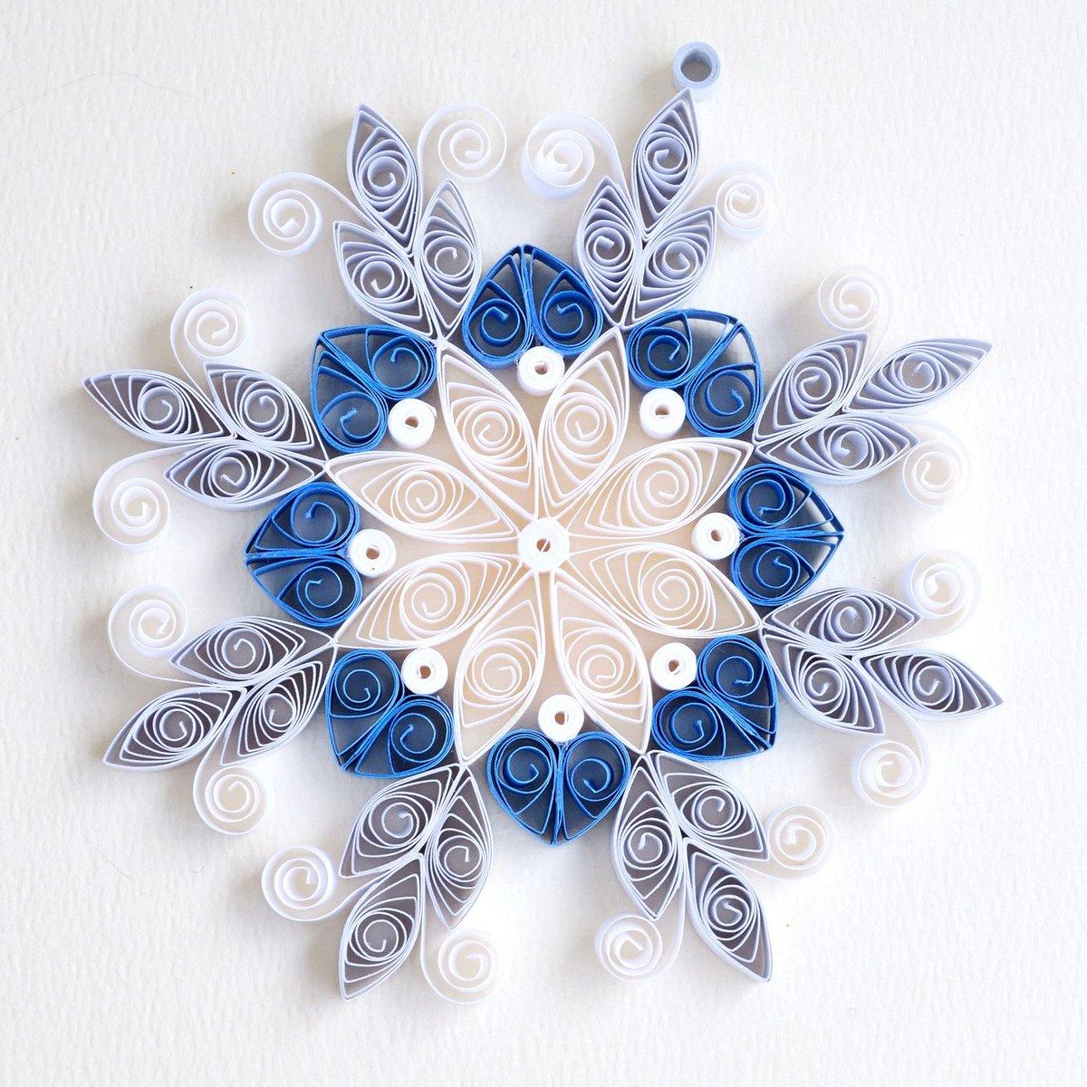 Скрапбукинг, как сделать снежинку на открытку
