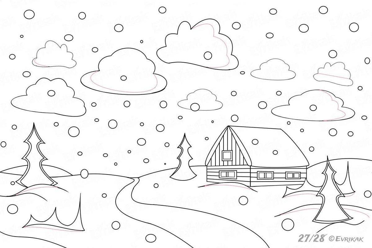 посадкой рейс нарисовать зимние картинки поэтапно выпускаются двух