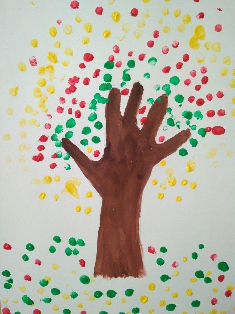 Рисунок пальчиками и ладошками фото