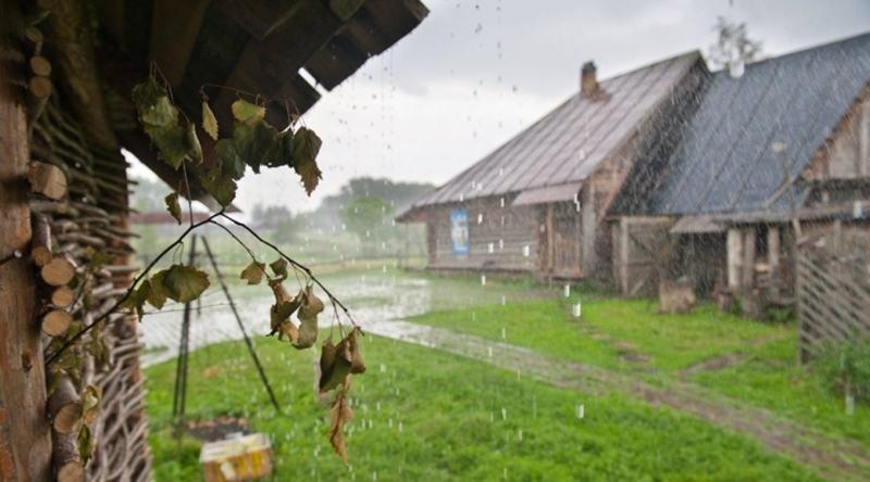 фотографии дождливая осень в деревне