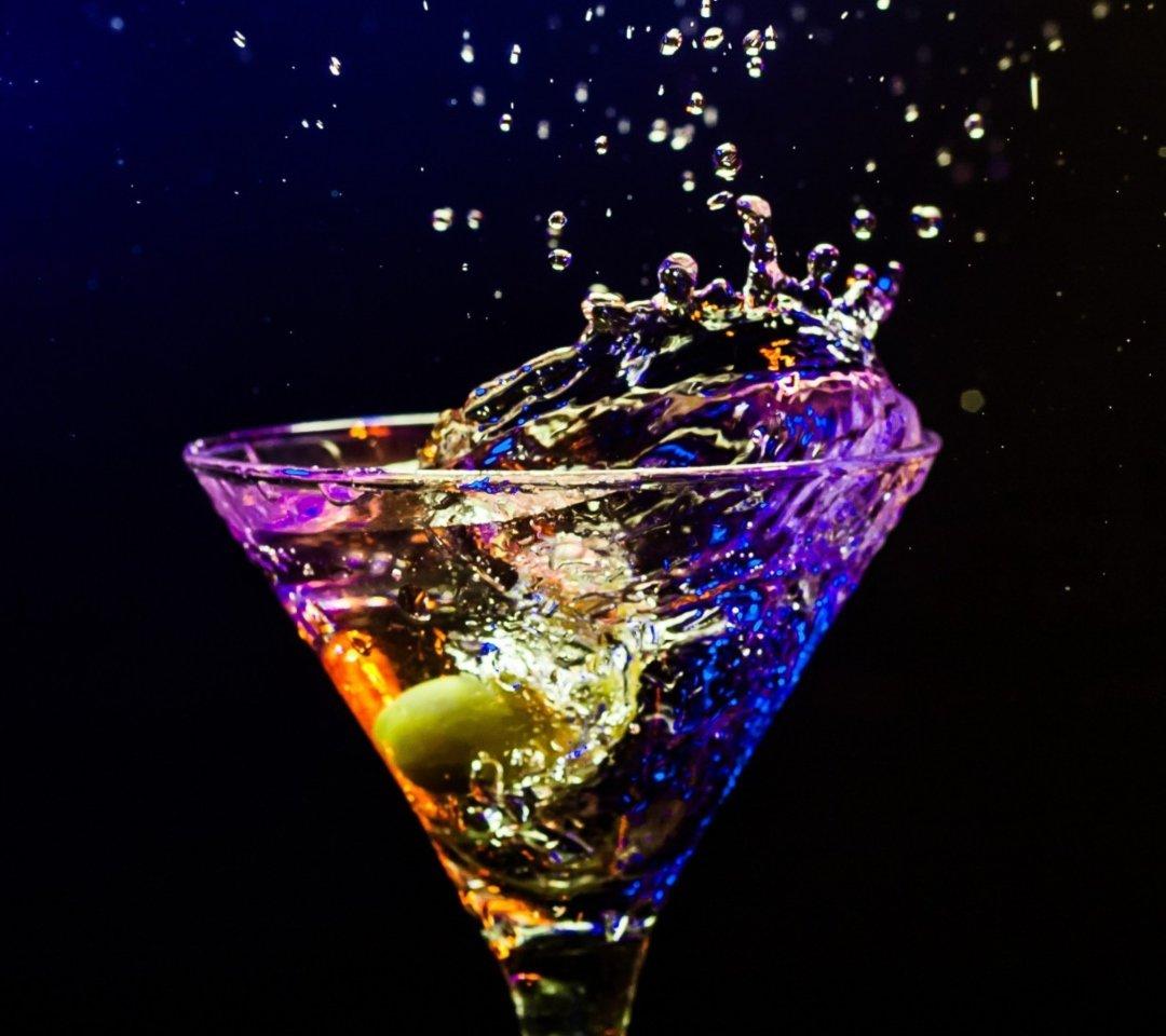 Открытка, картинки мартини со льдом
