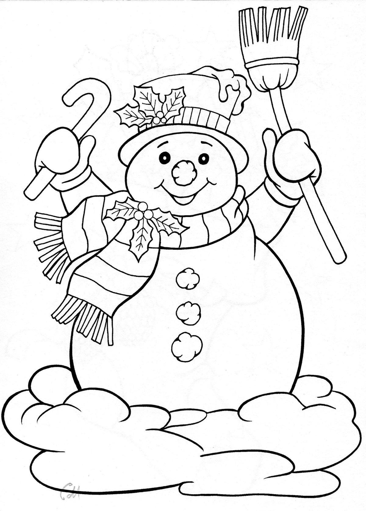 Картинки снеговиков на новый год печатать, открытку своими