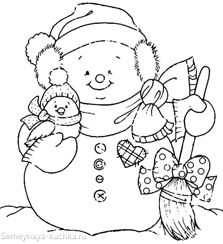 новогодние картинки снеговика раскраска разных народах