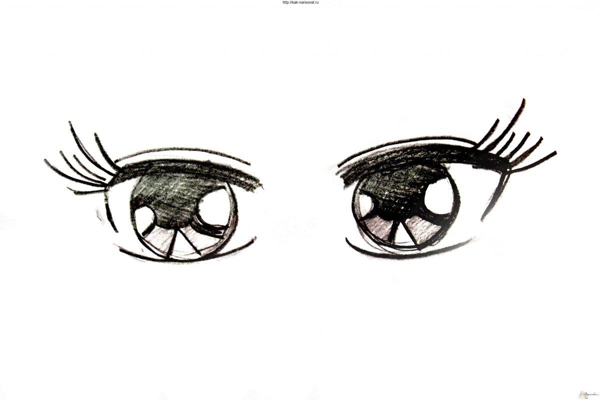 Картинки для срисовки глаза аниме поэтапно карандашом для начинающих