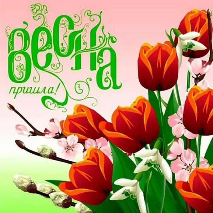 Февраля для, открытка поздравление весны
