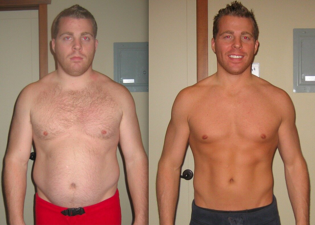 Как резко похудеть мужчине