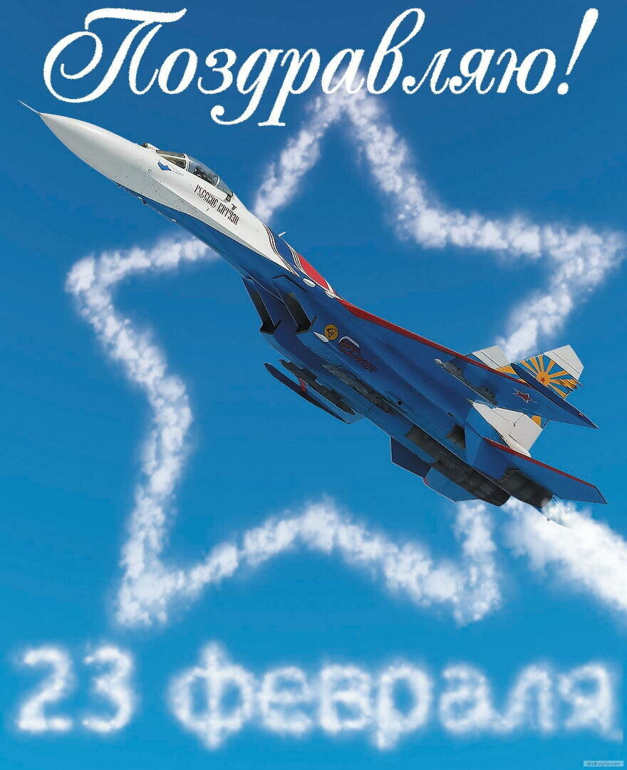 С 23 февраля картинки самолет поздравления