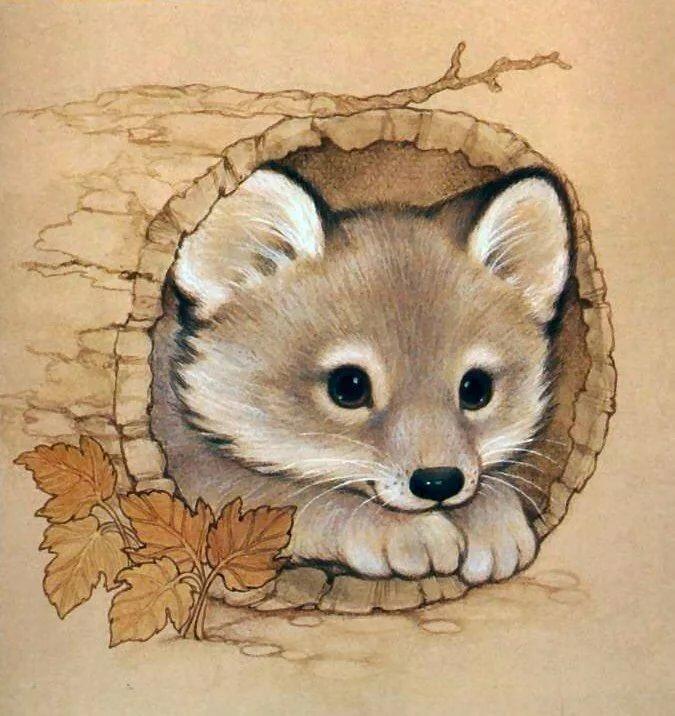 Красивые мультяшные картинки животных