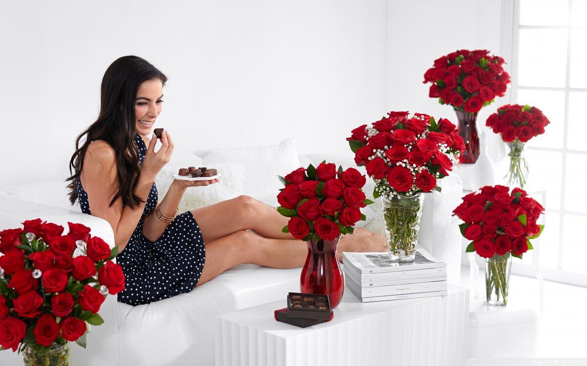 Какие цветы подарить деве, розовых