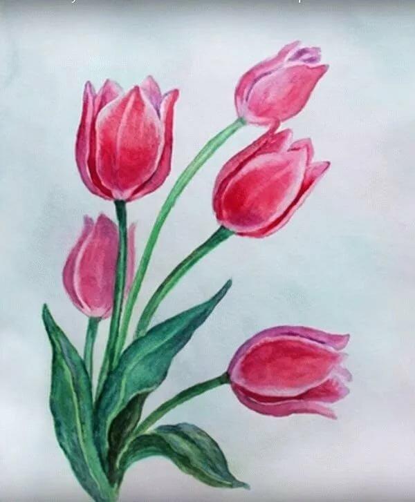 Детский рисунок открытки с 8 марта