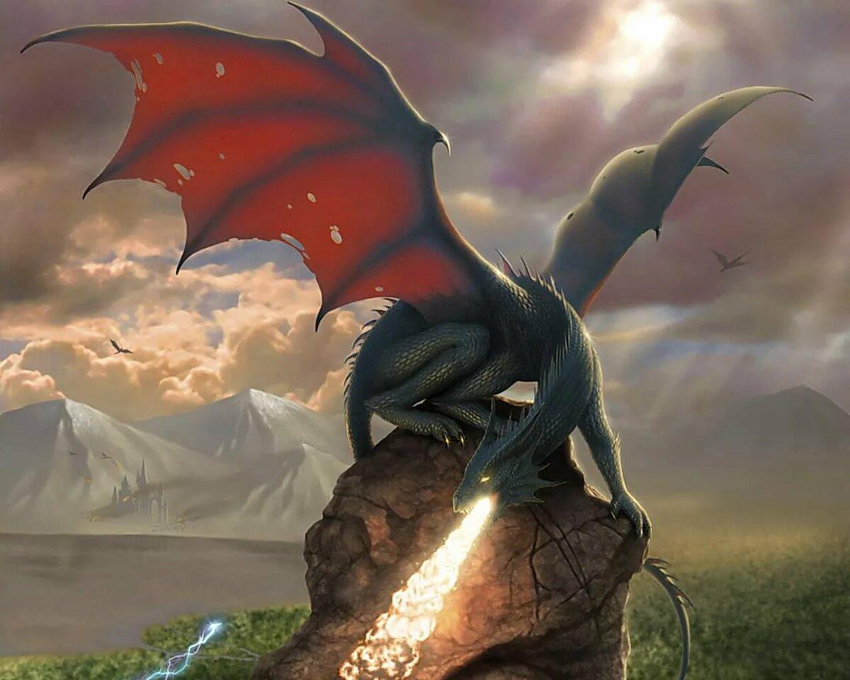Красивые картинки с драконами, рождением второго