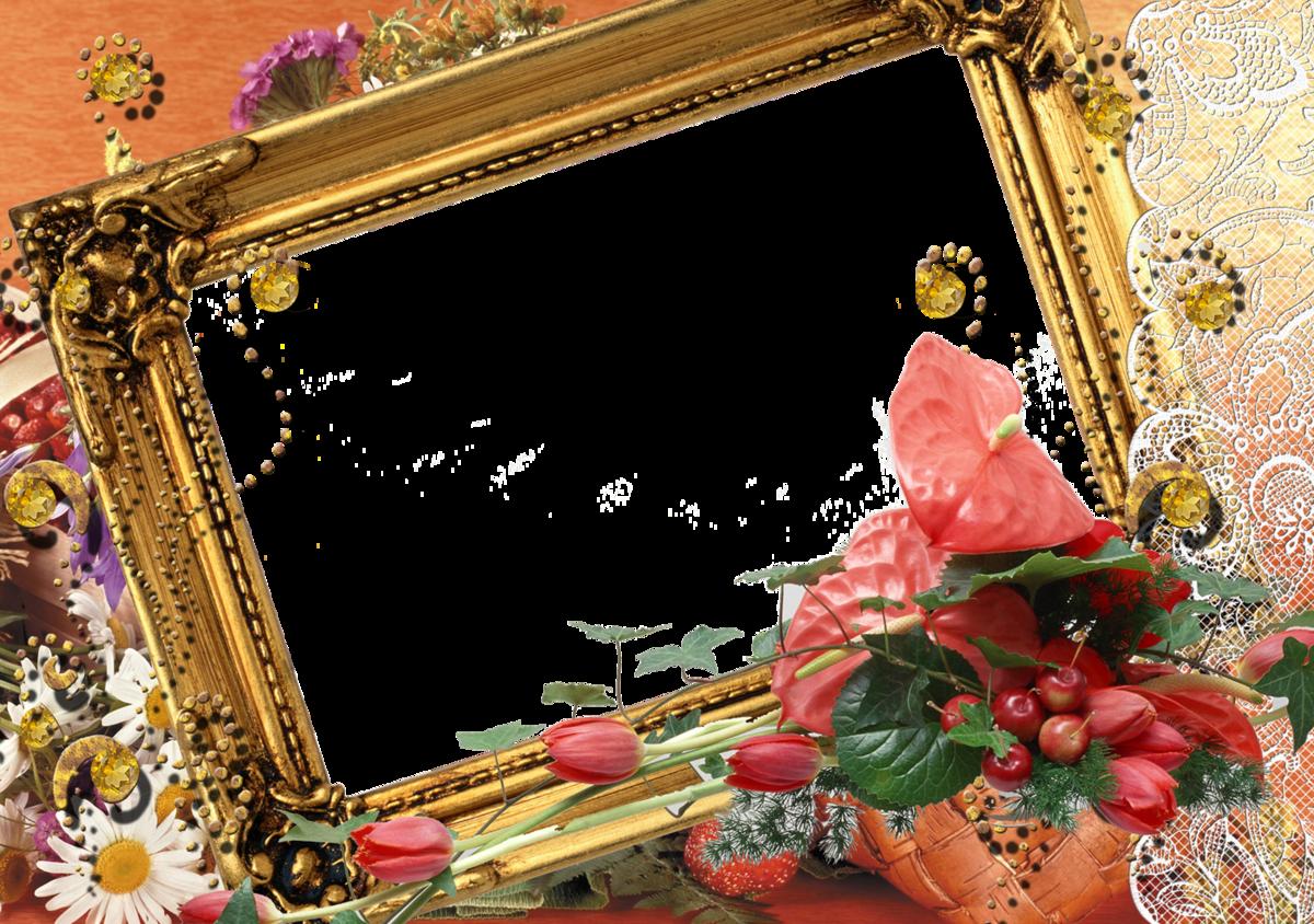Открытка в золотой рамке, для скайпа аву