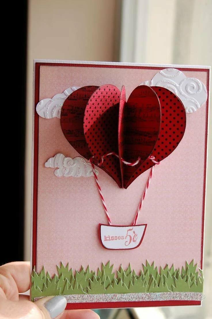 Как сделать к дню валентина открытку, для