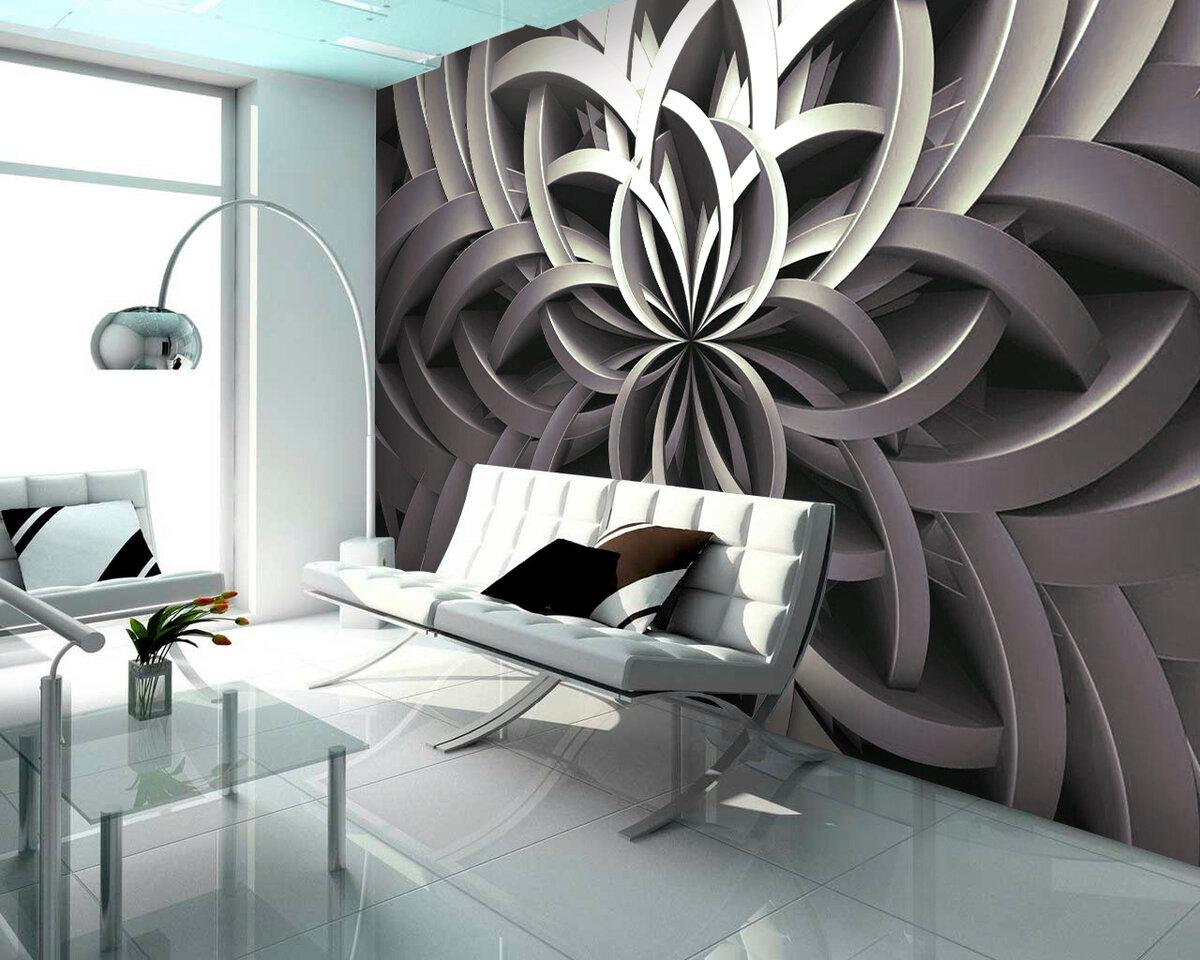 проектировании фотообои абстракция в интерьере фото подборе мебели для
