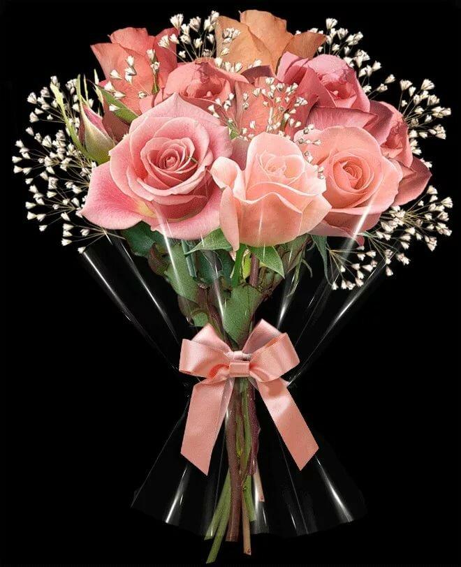 Букеты, букеты переливающихся цветов
