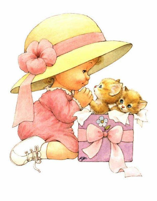 Дети открытки рисованные, надписью номер
