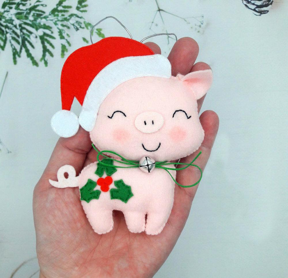 Открытка на новый год в садик в год свиньи