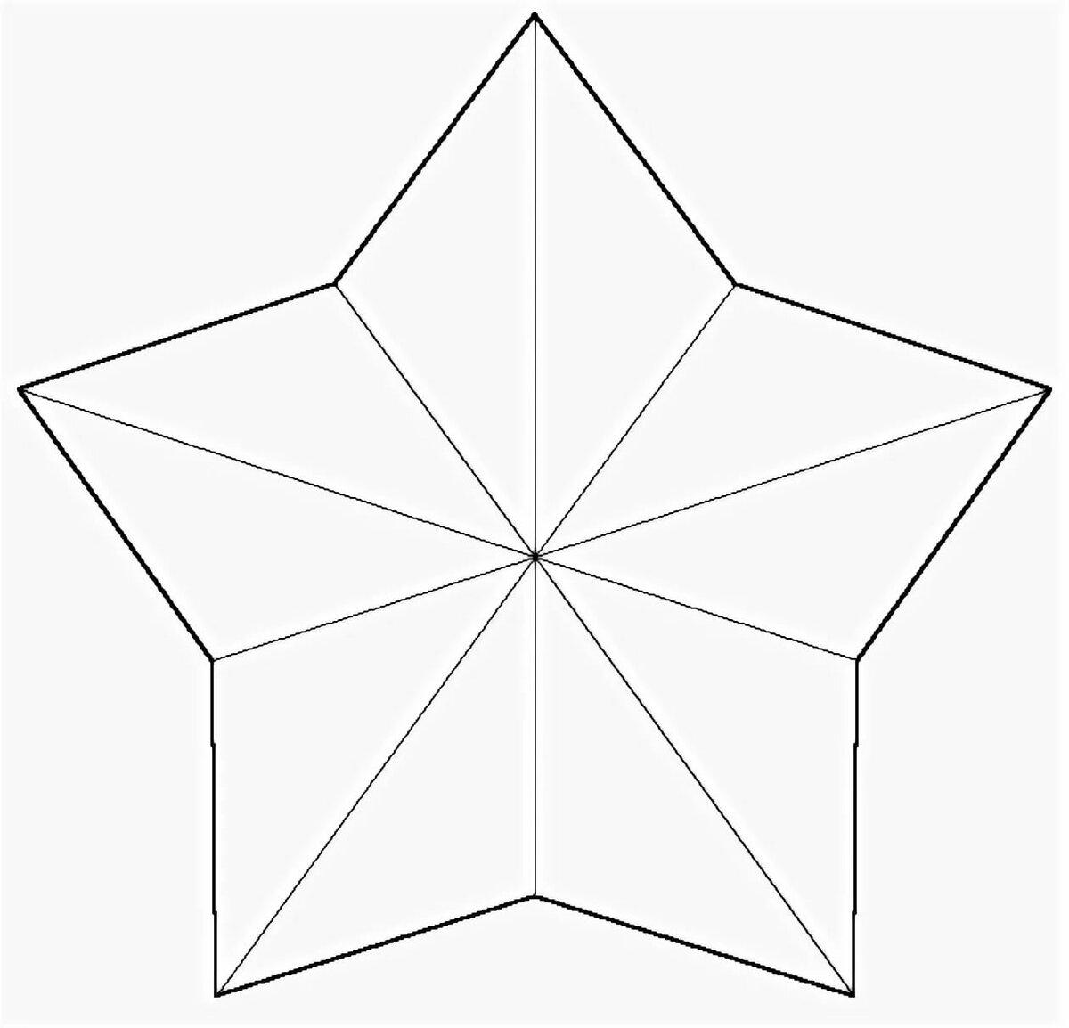 Открытки с объемной звездой