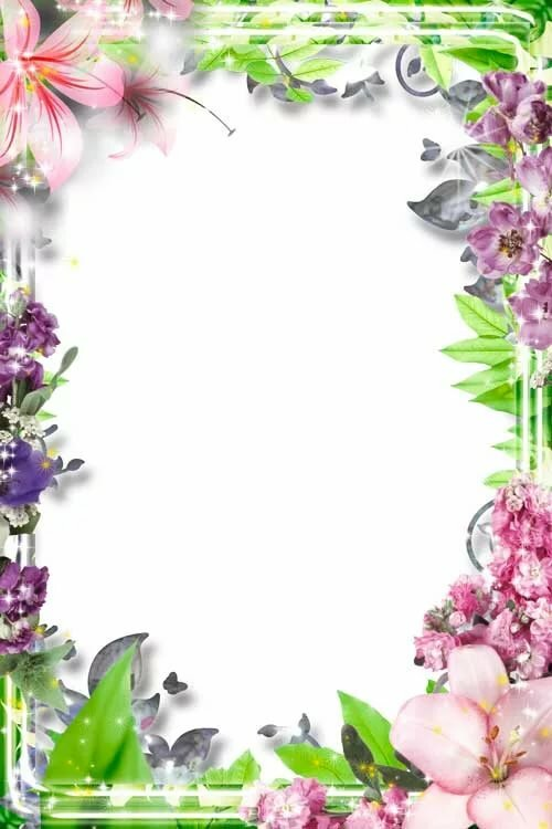 Рамка цветочная для поздравления