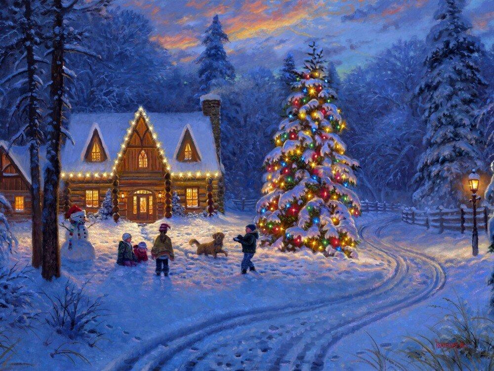 Гиф спасибо, рождество сказочные картинки