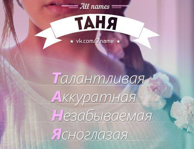 Картинки с имена таня татьяна много