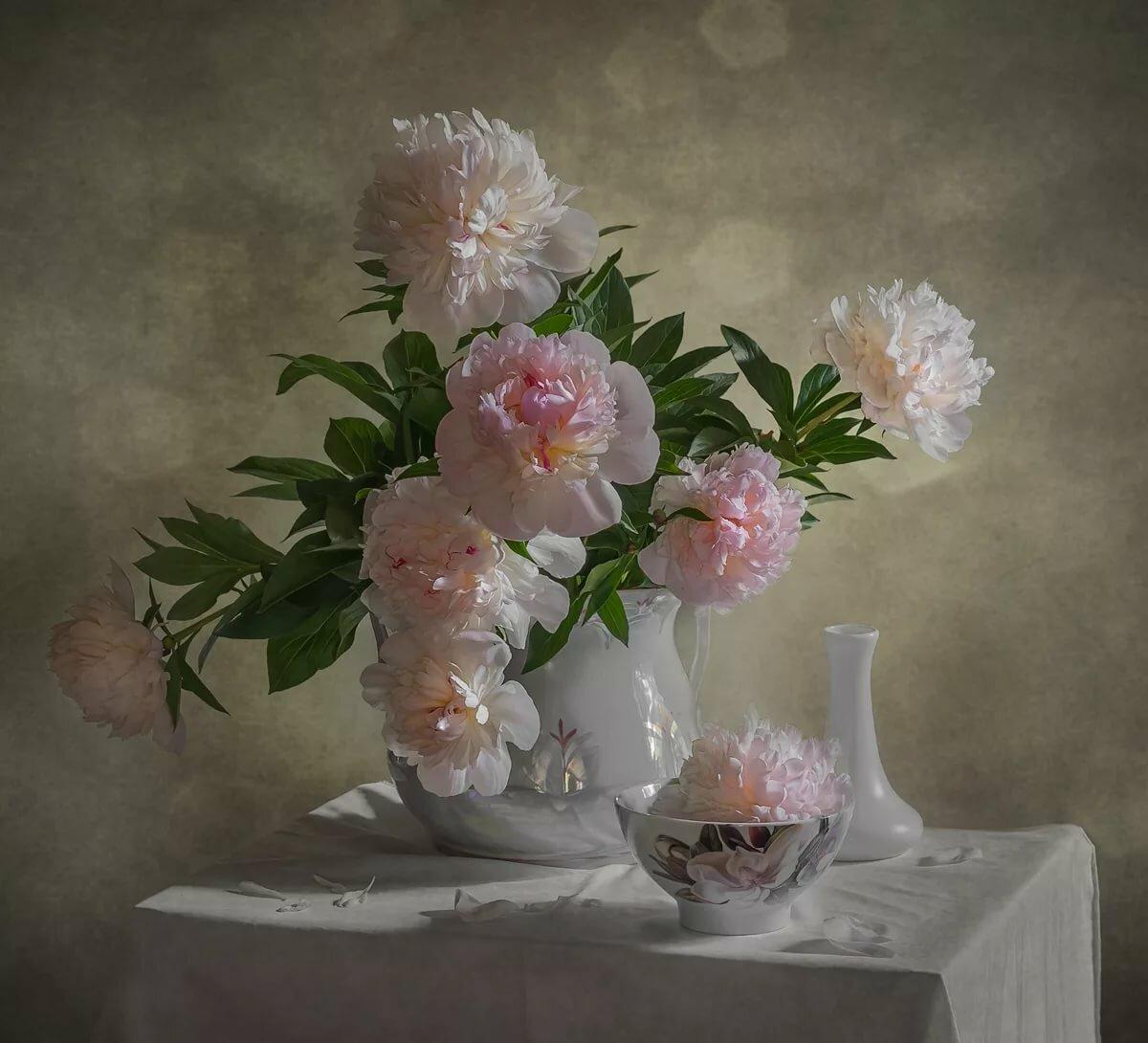 Картинки белые пионы в стеклянной вазе, картинка