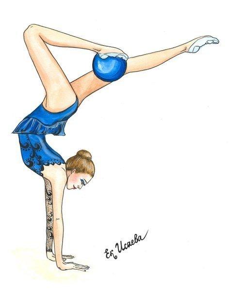 Рисунок на тему гимнастика