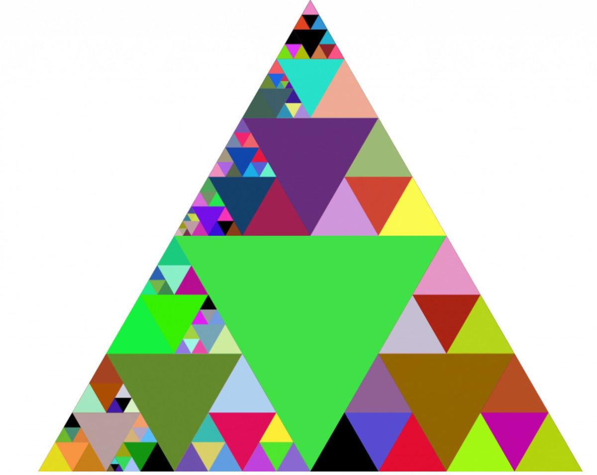 новом картинки цветных треугольников всего