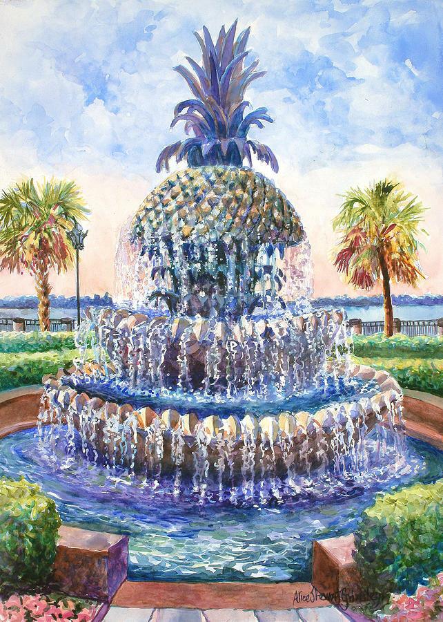 Картинки фонтаны рисовать
