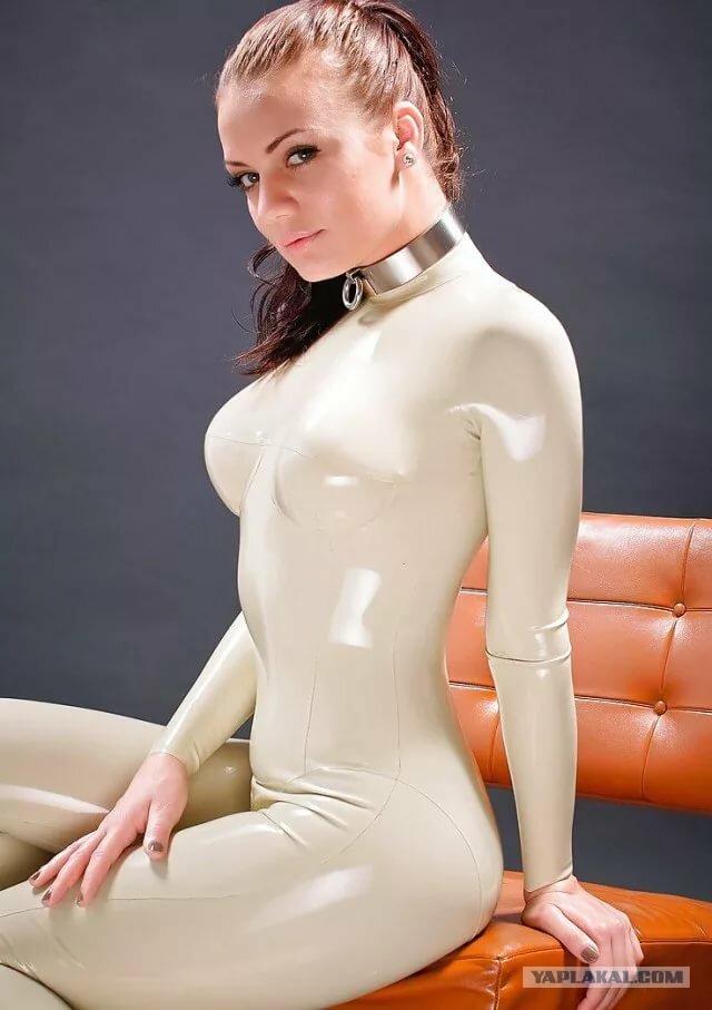 Naked latex babe