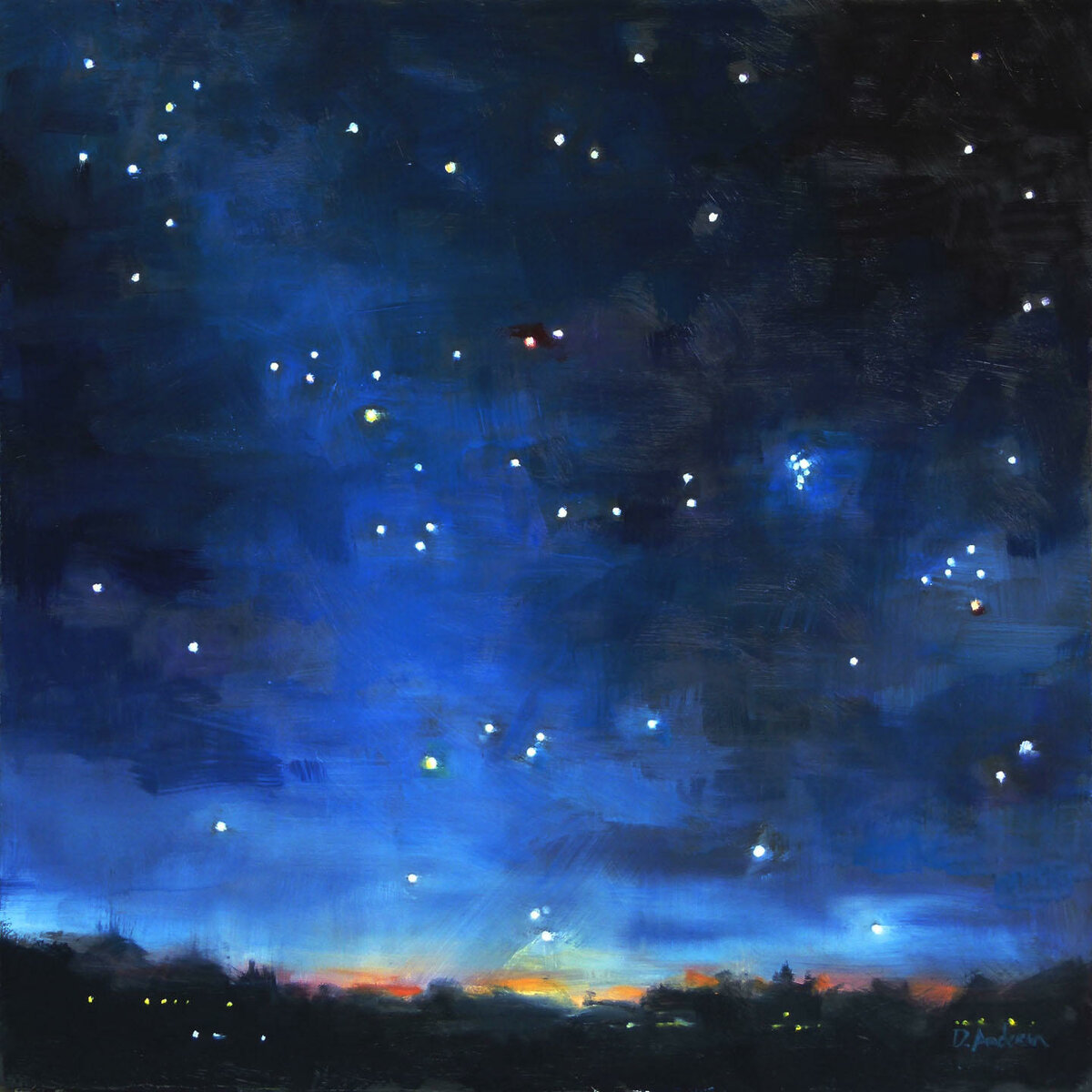 рисунки звездное небо