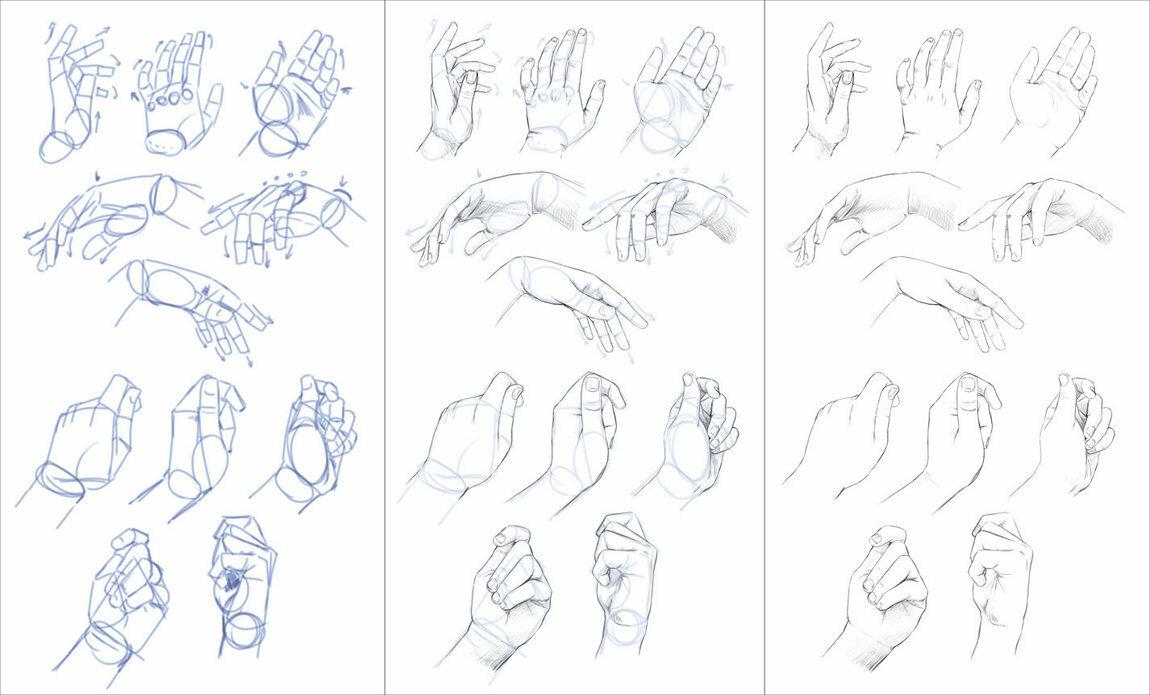 Что нарисовать на руке картинки поэтапно
