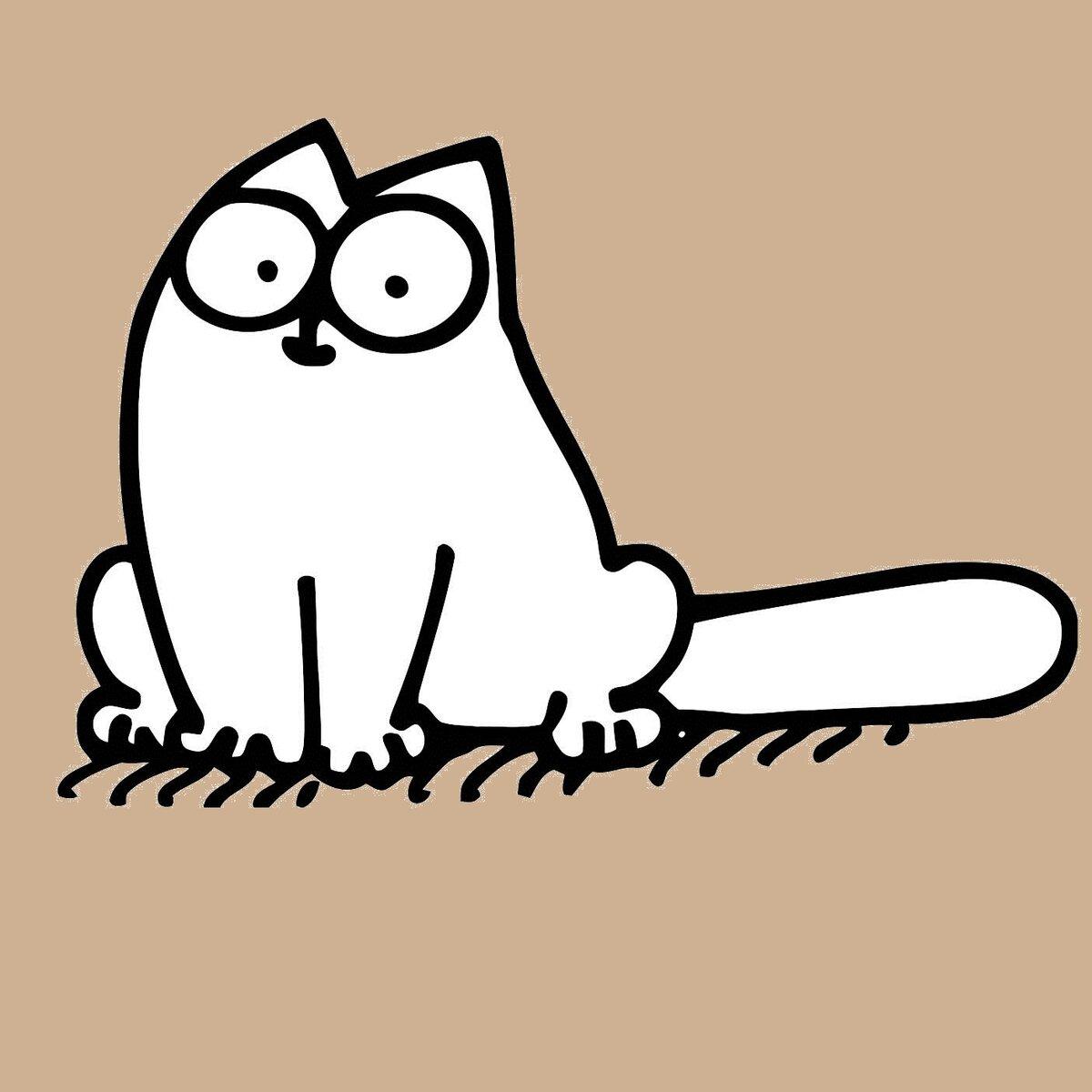 Рисунки кота саймона карандашом для срисовки