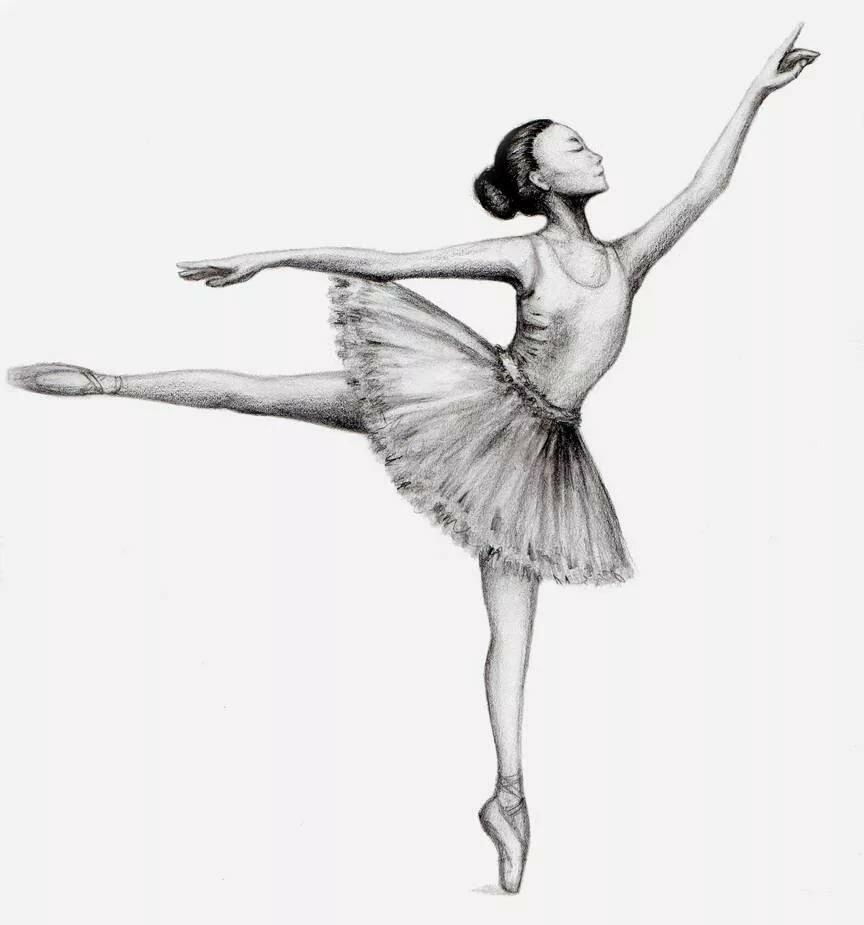 Балерины картинки легкие