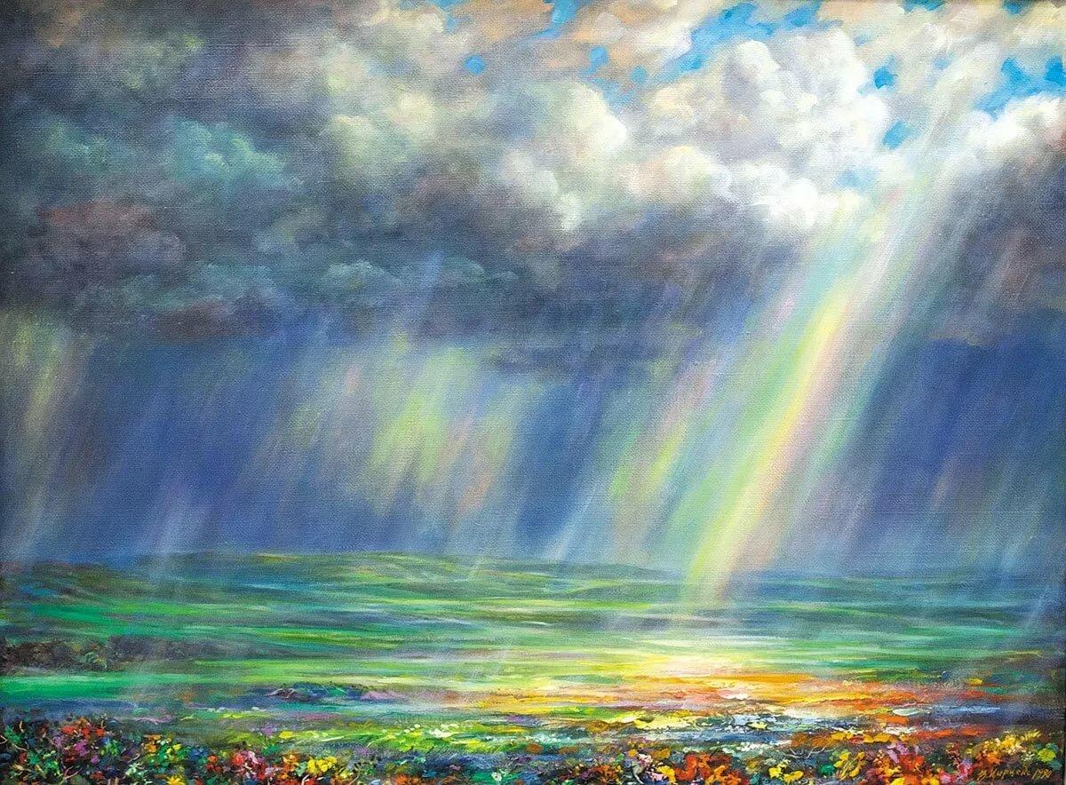 собрали некоторые художник рисует радугу картинка следует опубликованных