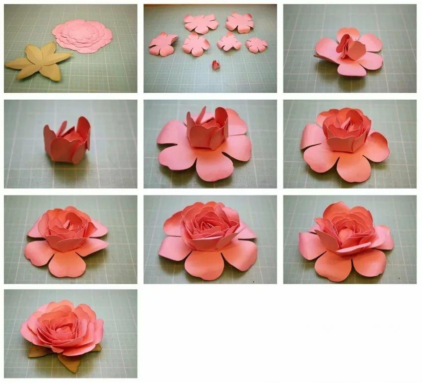 Цветочки из бумаги своими руками для открыток